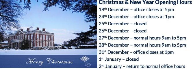 P J Hayman Merry Christmas - Opening Hours