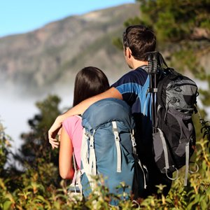 Couple Hiking in Tenerife