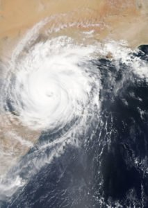 Large Tropical Storm Taken By a Satellite