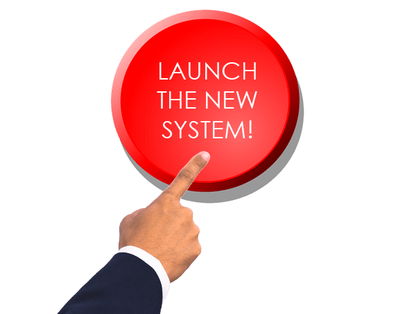Launch the new system button