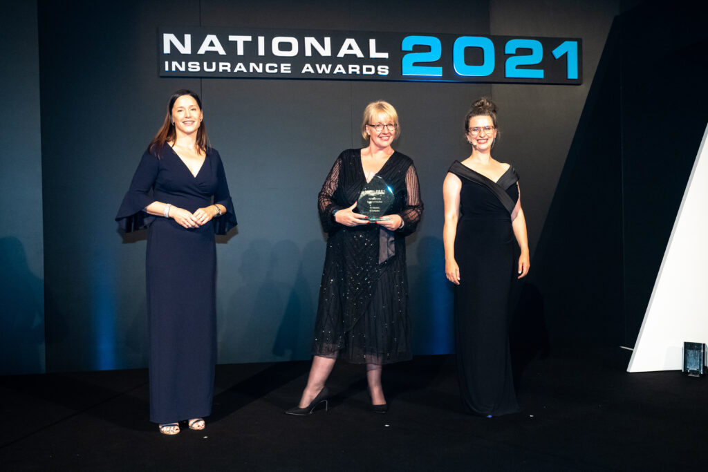 collecting the award for Personal Lines Broker of the Year 2021