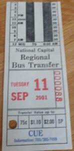 bus transfer on 9/11